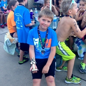 Placing in the top 3 of the Columbus Youth Triathlon