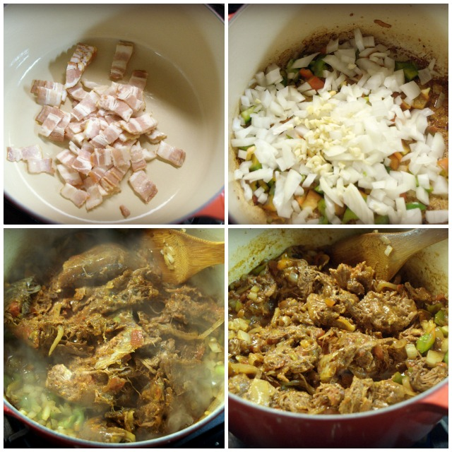 Bacon is the key to a good Chili Base along with onions, green peppers and garlic