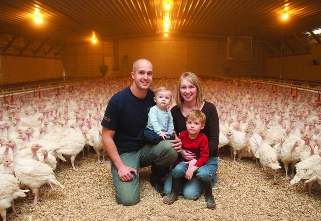Turkey farm family from Iowa