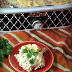 Crock Pot Scrambled Eggs Casserole with sausage and green chilis is a great breakfast for supper meal that can dropped in the crock pot and forgot about while you out doing evening activities.