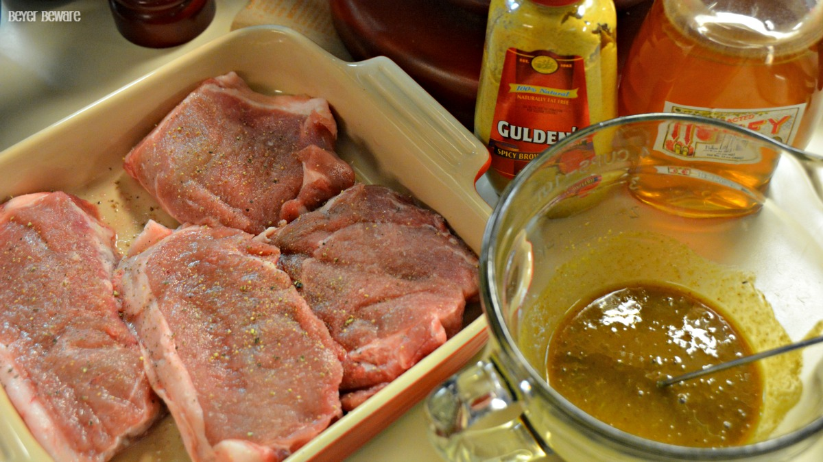 Easy Honey Mustard Pork Chops are a quick and easy recipe that can be grilled or baked.