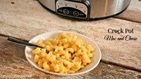 A creamy crock pot mac and cheese recipe that can be ready in two hours and let's you fix it and forget it on a busy night.