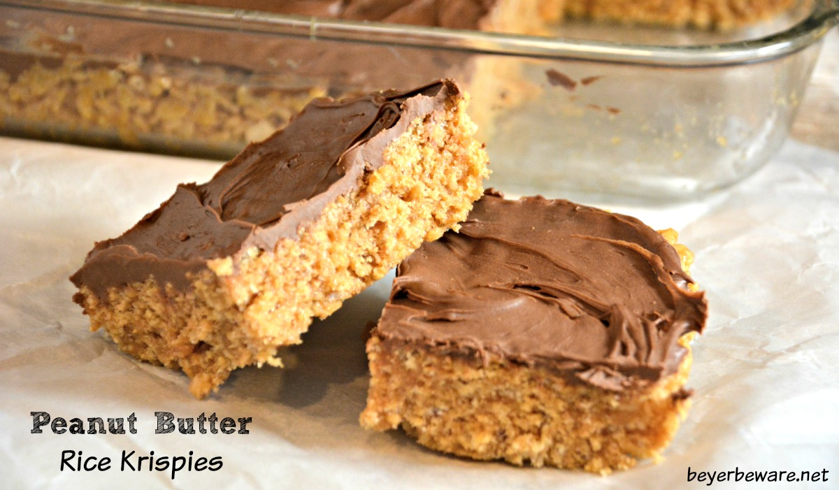 Scotcheroos are the peanut butter rice krispies treats peple will be asking you to bring to every event. These no-bake peanut butter chocolate bars are ready in under 15 minutes.