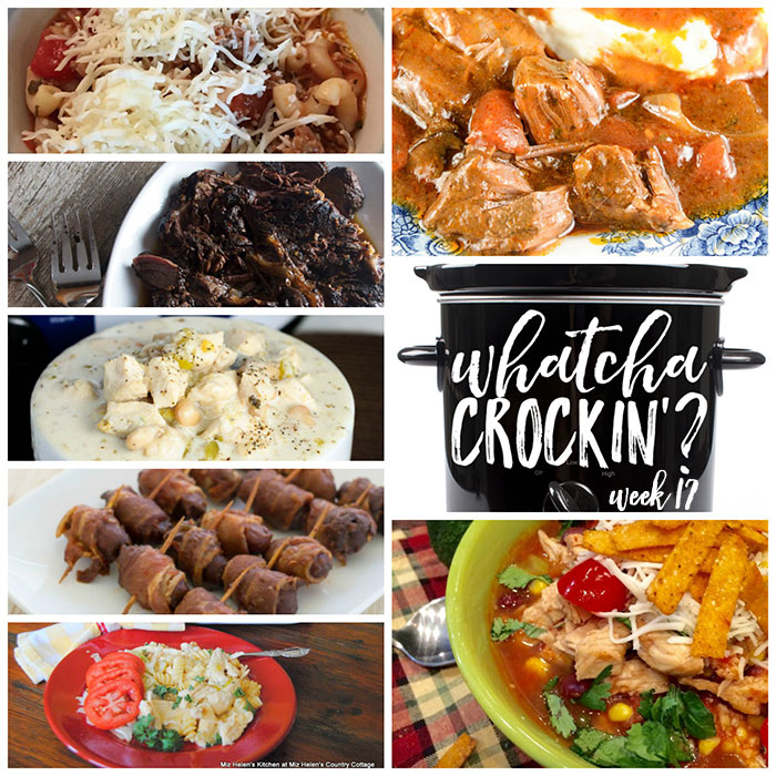 This week's Whatcha Crockin' crock pot recipes include Slow Cooked Balsamic Beef Roast, Crock Pot Bacon Wrapped Cocktail Weenies, Crock Pot Lasagna Soup, Crock Pot Chicken Enchilada Soup, Crock Pot Italian Pot Roast, Slow Cooker Buffalo Chicken Casserole, Crock Pot White Chicken Chili and much more!