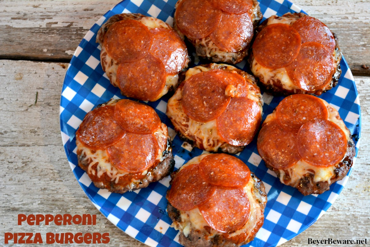 If you have a hard time choosing between burgers or pizza, these pepperoni pizza burgers will be your new favorite burger combining two All-American favorites.