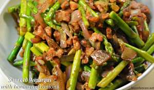 Sauteed Asparagus with Bacon and Onions