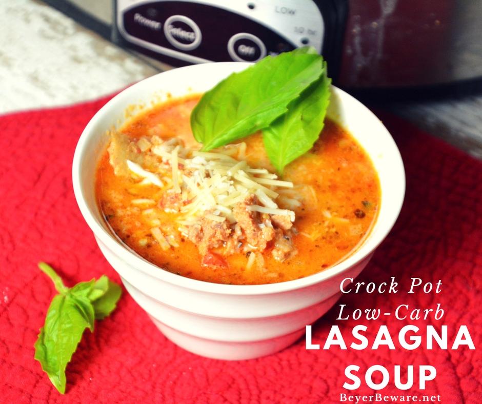 Crock Pot Low Carb Lasagna Soup
