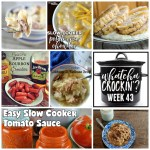 This week's Whatcha Crockin' crock pot recipes include some recipes perfect for fall, including Crock Pot Beef and Noodles, Smoked Sausage and Cheese Pasta Bake, Slow Cooker Potato and Corn Chowder, Crock Pot Apple Bourbon Smokies, Crock Pot Turkey Breast, Cabbage and Kielbasa Soup, Crock Pot Potato Soup and much more!