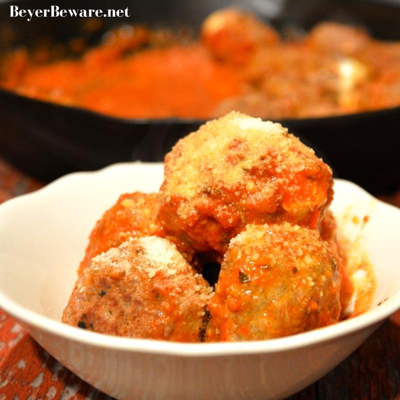 Mozzarella Stuffed Meatballs {Gluten-Free, Low-Carb}
