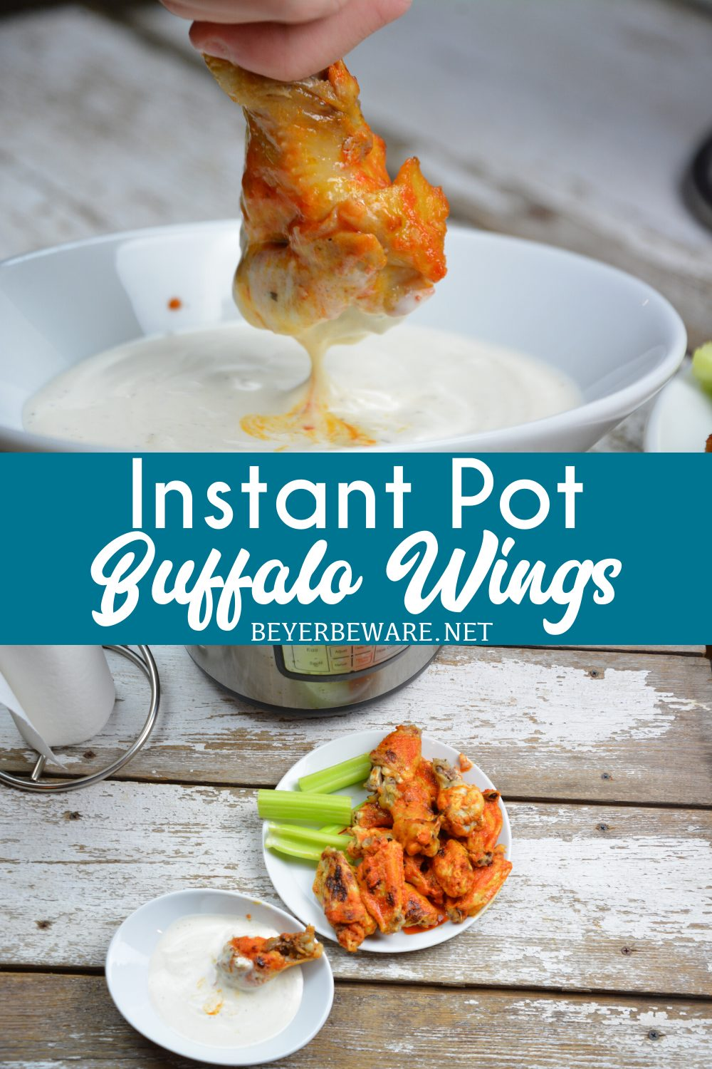 Instant Pot Buffalo Wings are a quick buffalo wings recipe yet fall off the bone tenderness all while being drenched in an easy buffalo sauce.