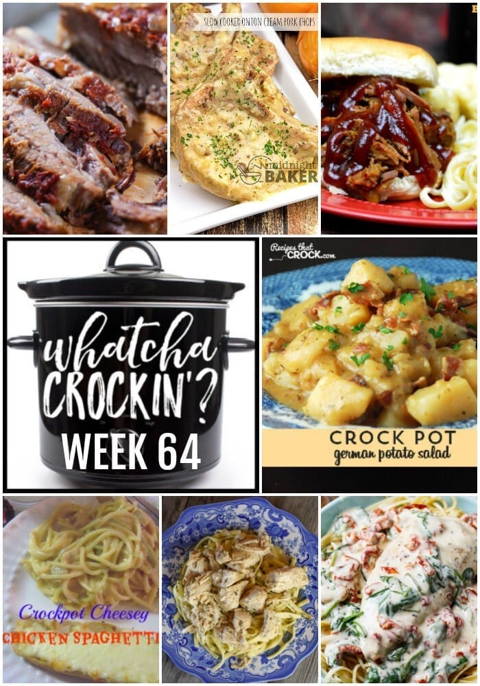 This week's Whatcha Crockin' crock pot recipes include Slow Cooker Onion Cream Pork