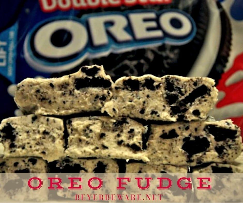 Cookies 'N Cream Fudge – Oreo Fudge