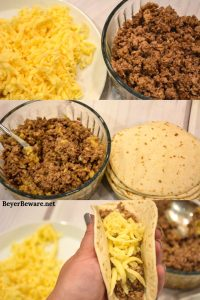 Ninja Foodi Air Fryer Mini Beef Tacos are an easy cheesy fried taco recipe perfect for meals or appetizers made without the mess of frying in an air fryer.