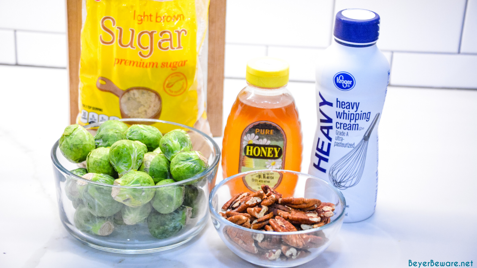 Ingredients for Brussels Sprout with Pecans and Honey