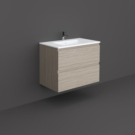 RAK-JOY - JOYWH080EGY Wall Hung Vanity Unit, Grey Elm