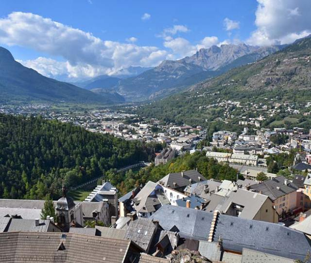 View Southwest Across Briancon Down The