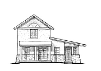 2-Story Farm House Front Elevation
