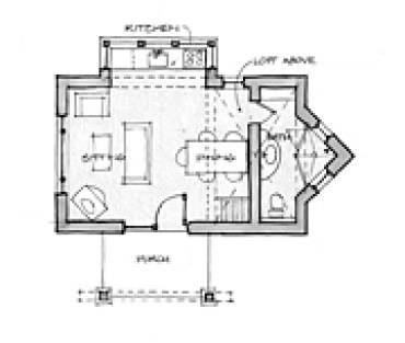 Tiny Square Adobe House Floor Plan