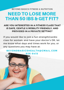 50 Ibs plus fitness class