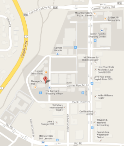 google map to dr. kimberlys in the barnyard carmel 93923