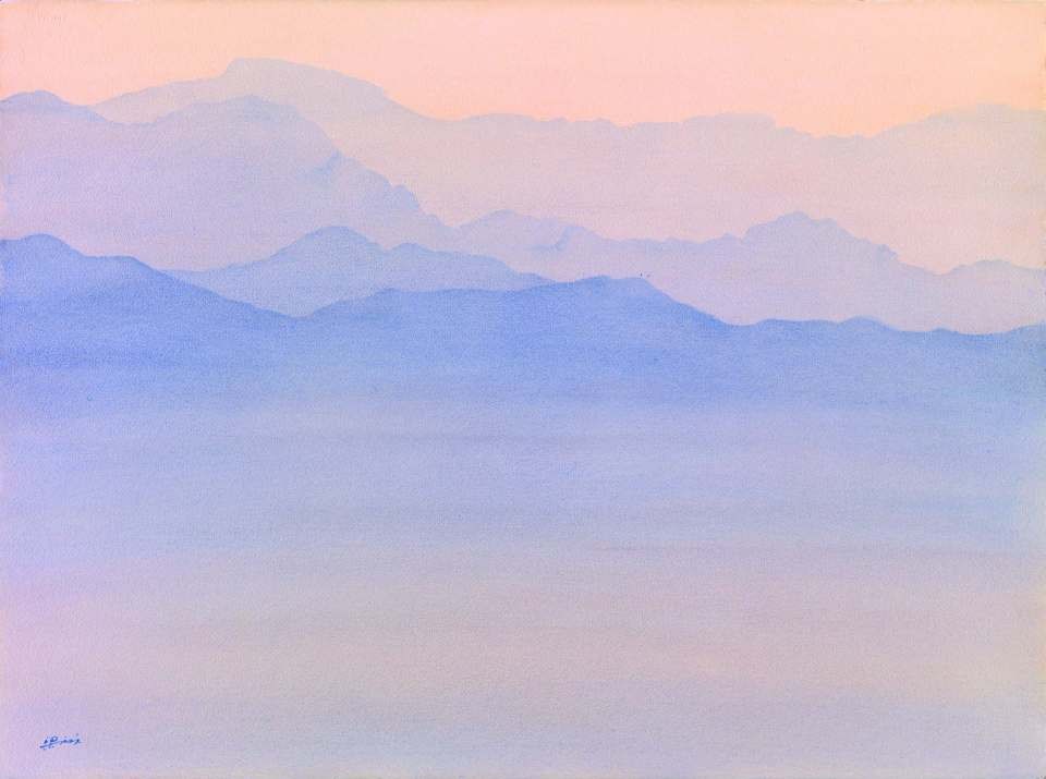 Liang%2c Dan-Huei%2c Penglai Fairyland%2c 22x30 inches%2c Watercolor on paper%2c 2013