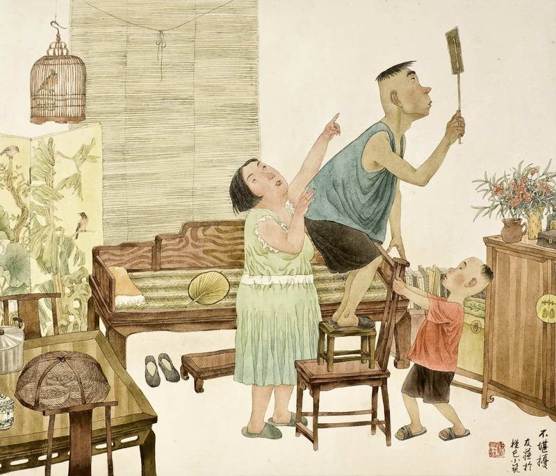 Xie Yousu - 'An Annoying Fly', 60 x 70 cm. From http://www.wanfung.com.cn/eng/yfzl_show.asp?id=1877