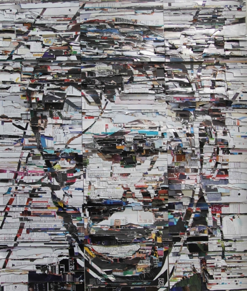 Head Portrait, 2015 Magazines 38 5/8 x 32 7/8 in. (98 x 83.5 cm)