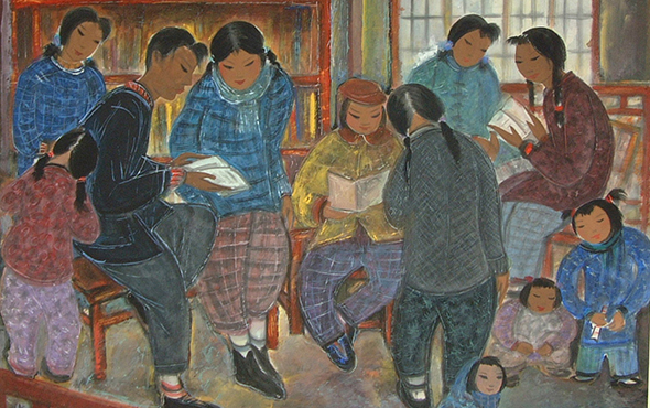 Lin Fengmian – Sound of Reading Aloud
