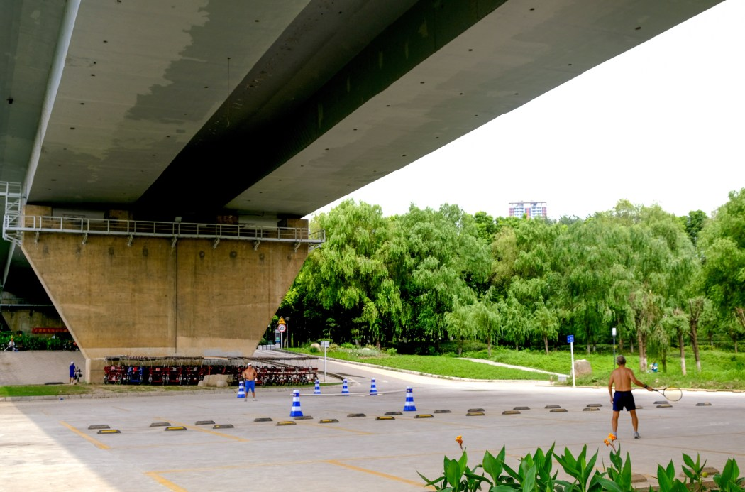 Tennis Under the Bridge