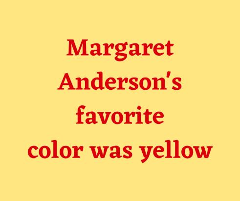 Margaret Anderson FB