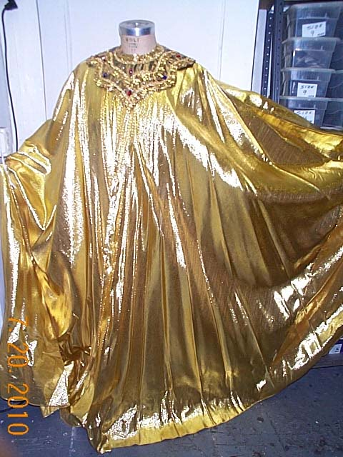 Cape Gold Lame Gold Collar Beyond Costumes