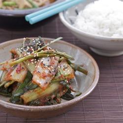 spring cabbage kimchee (Kimchi)