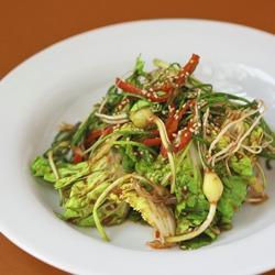 Korean spring cabbage salad