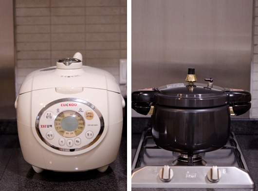 The best way to cook multigrain rice is using a pressure rice cooker.