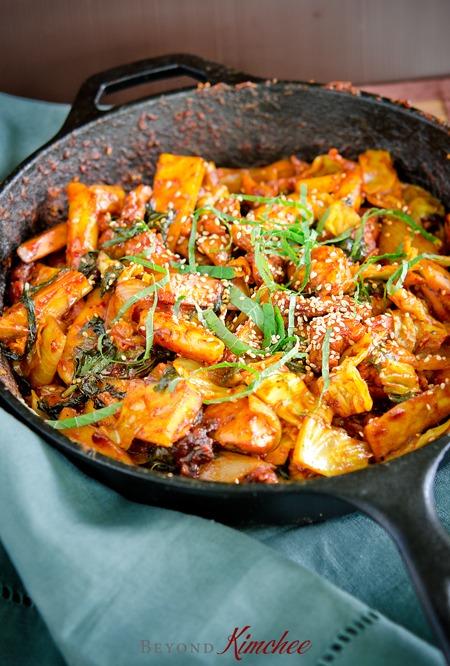 spicy Korean chicken-galbi called dak galbi