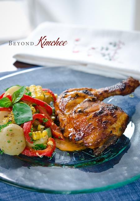 Piri-Piri Chicken is served with potato corn salad