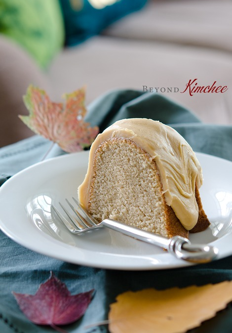 Spic Cake with Caramel Icing