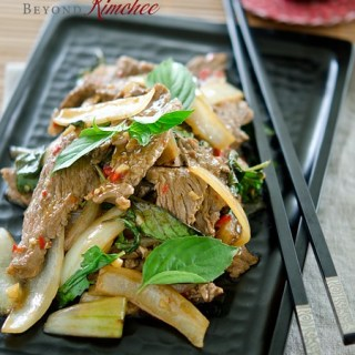 This simple Thai beef and basil stir-fry is ready under 20 minutes