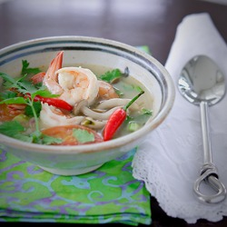 Tom Yum Goong is a lip smacking Thai shrimp soup