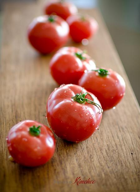Kimchi Tomato spaghettie