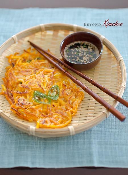 Korean Pumpkin Pancakes