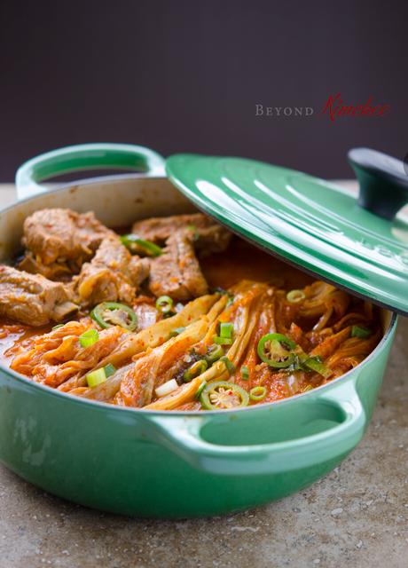 Braised-pork-ribs-and-kimchi