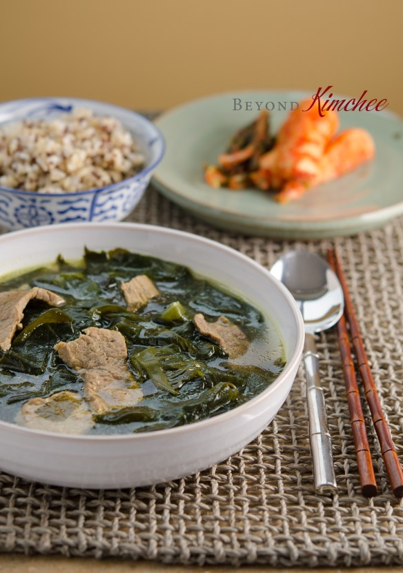 Seaweed soup made with beef