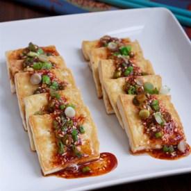 Pan Fried Tofu with soy chili sauce