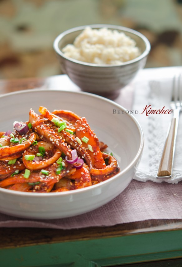 Stir-fried Spicy Squid