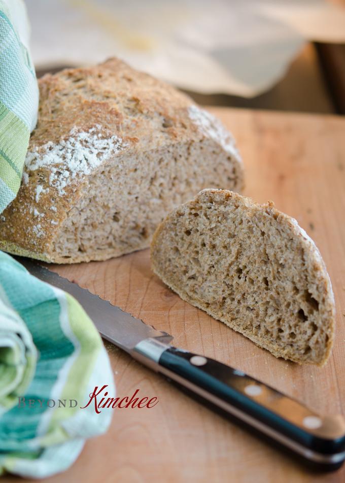 No Knead Bran Bread