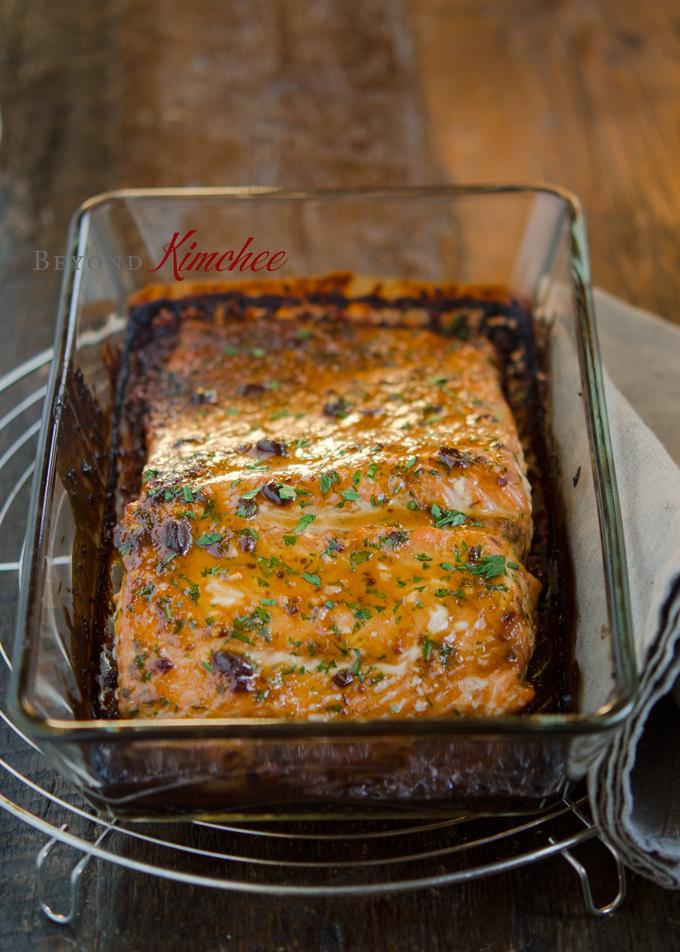 Soybean Paste Glazed Salmon, 연어 된장구이