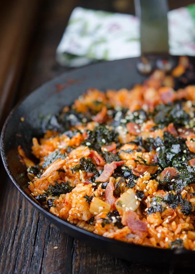 Kimchi Bacon Fried Rice