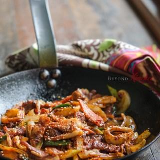 Spicy Pork and Squid Stir-fry (Osam Bulgogi)