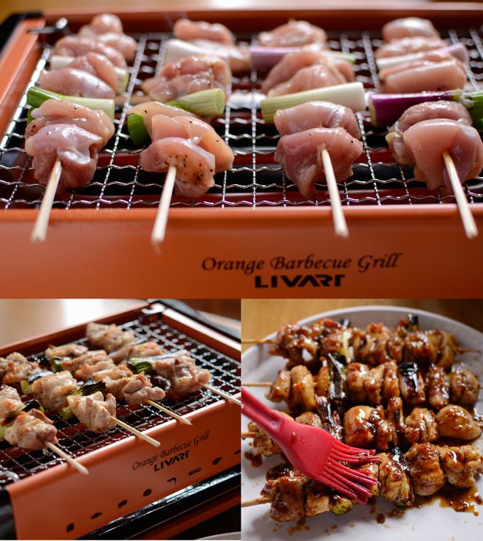 Livart Orange BBQ Grill